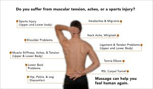 Diagram of body disfunction - Which massage service is right for you?