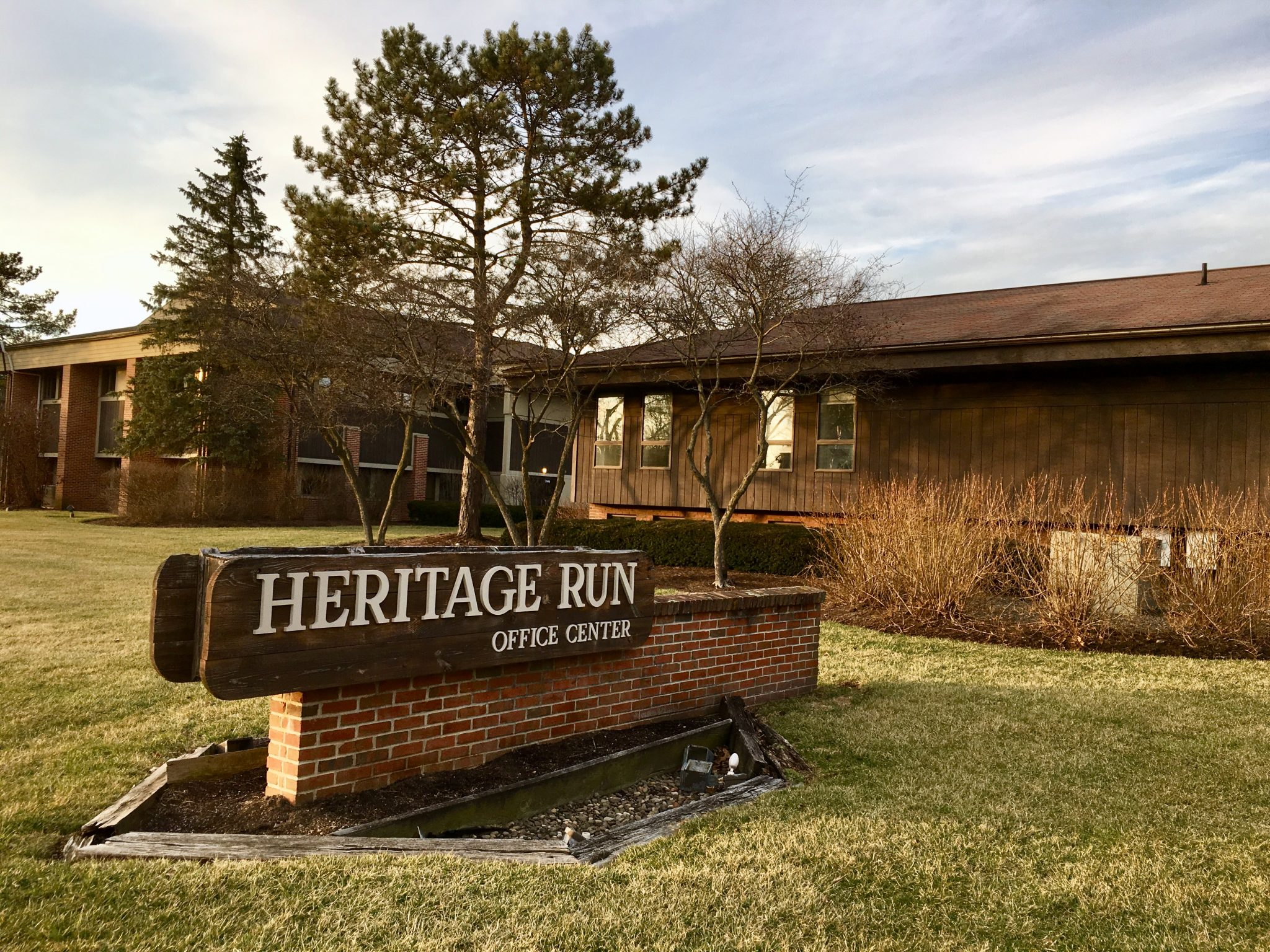 Exterior sign for Heritage Run Office Complex