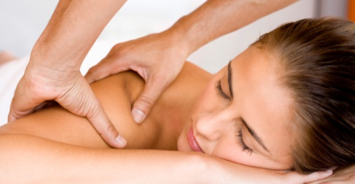Female client getting massage